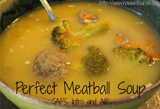 Perfect Meatball Soup (GAPS Intro/AIP)
