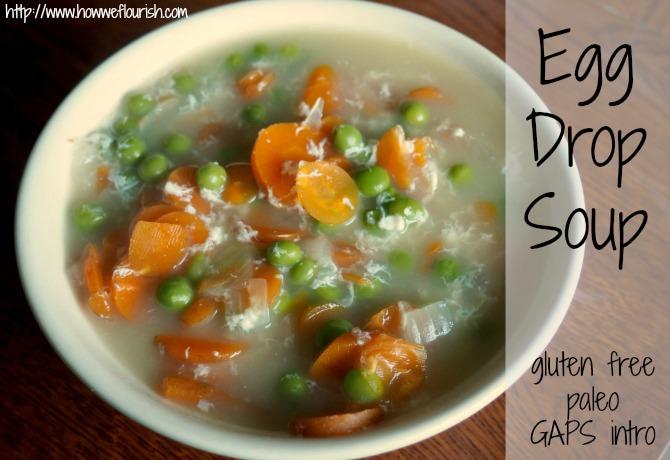 Egg Drop Soup Recipe (Paleo, GAPS Intro, Gluten-Free, Dairy-Free ...
