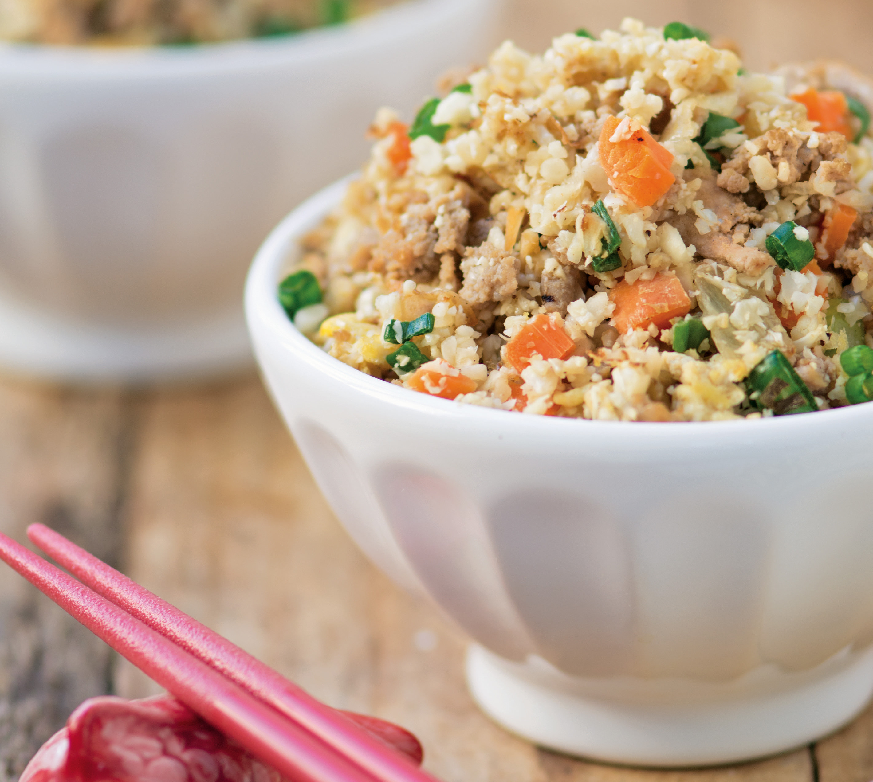 Cauliflower Pork Fried Rice (from One Pot Paleo)