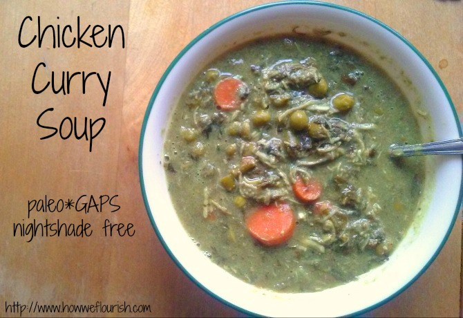Chicken Curry Soup (Savory Rhubarb Recipe, Nightshade-Free)