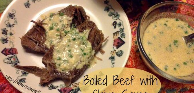 Boiled Beef with Chive Sauce