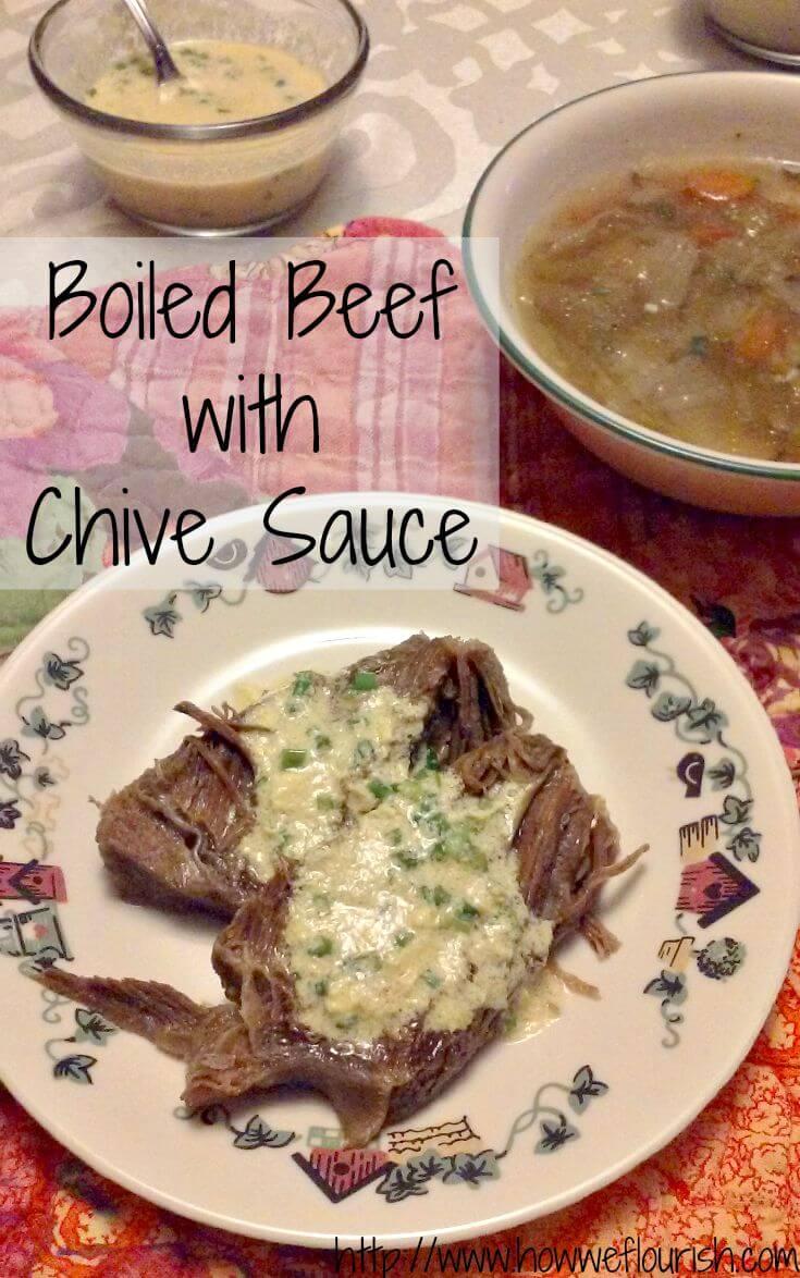 Boiled Beef with Chive Sauce (Rindfleisch mit Schnittlauchsosse)