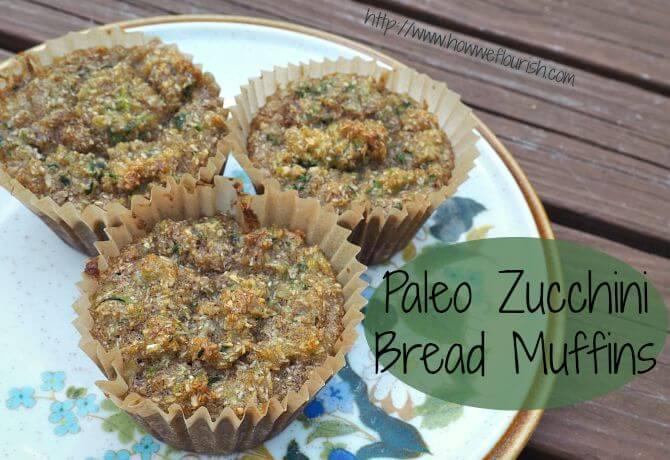 Paleo Zucchini Bread Muffins (GAPS, Nut-Free)