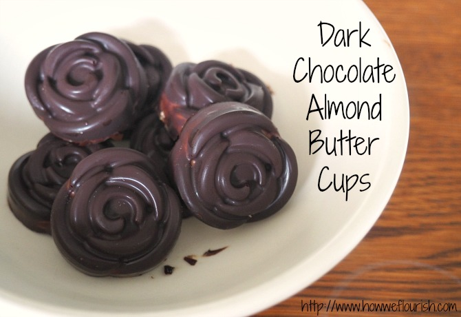 Dark Chocolate Almond Butter Cups