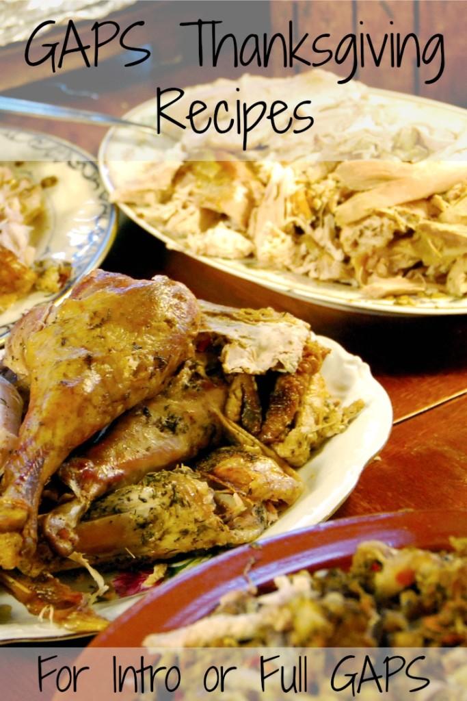 GAPS Thanksgiving Recipes
