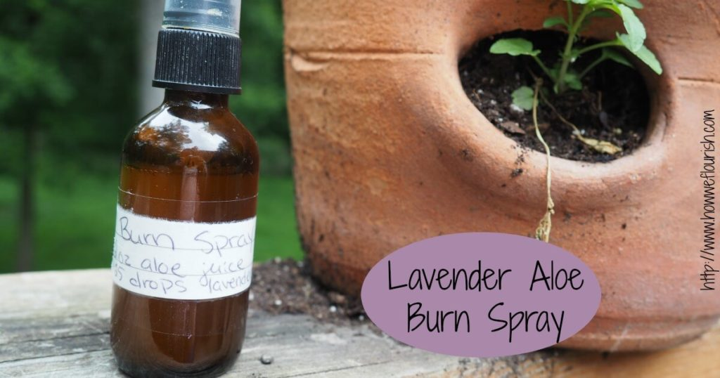 Home Remedy for Sunburn – Lavender Aloe Burn Spray